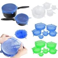 Food cover 6in1 cover penutup makanan serbaguna bahan silicone elastis