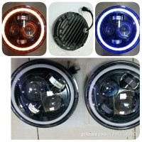 Lampu Proyector Daymaker 7 inch Full Ring 1set last stok