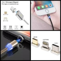 X Cable Charger Magnet 3 in 1Micro Type C Lightning 3A FAST CHARGING