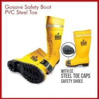 Sepatu Boot Safety Rubber GOSAVE Sparta/Sepatu ujung besi