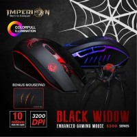 Imperion Black Widow S300 MACRO Gaming Mouse - FREE MOUSEPAD