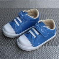 Sepatu Bayi Anak Laki Laki Casual Trendy / LK01 Velcro Biru