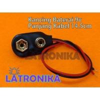 Kancing Baterai 9V Soket Batere Kotak Battery Socket 9 V Hitam