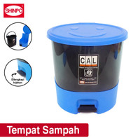 SHINPO Tempat Sampah Plastik 15 L Chubby Step On Dustbin SPO-SIP-715 - Biru