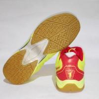 Dijual Sepatu Badminton Bulutangkis Flypower Dieng Blue Citrus Red