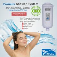 PROWATER - filter air untuk shower dll. menghilangkan 99% sisa klorin