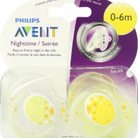 Sale Empeng Bayi Avent Night Time Orthodontic Pacifier 0-6M Isi 1 -