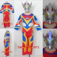 Topeng NYALA Baju Kostum Anak Superhero Ultra Man ULTRAMAN TARO Tanduk