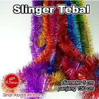 Slinger Tebal 1.5m*5cm Hantaran Dekorasi Natal Pesta Tinsel Garland - Pelangi