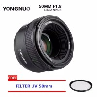 LENSA YONGNUO 50MM F1.8 FOR NIKON DAN UV FILTER 58MM