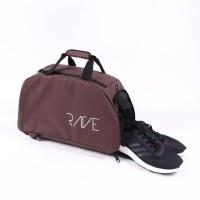 Travel Bag Rave Original Tas Sepatu Olahraga Gym Fitness Futsal Casual - Cokelat