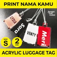 Acrylic Luggage Bag Tag Label Nama Tas Koper Akrilik Custom LTRMS2sisi