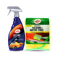 Turtle Wax [BUNDLE] ICE SPRAY WAX 591 mL + 1 PCS MICROFIBRE CLOTH