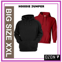 XXL - Jaket Sweater Hoodie Jumper Polos Real Cotton Fleece Murah