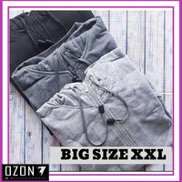 XXL - Jaket Sweater Hoodie Zipper Polos Real Cotton Flecee Murah