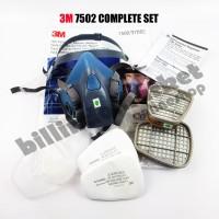 Masker 3M 7502 3M Half Facepiece Respirator Half Gas Mask Medium 7in1
