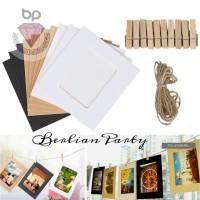 Frame foto gantung / bingkai foto gantung wooden clip photo frame 2R