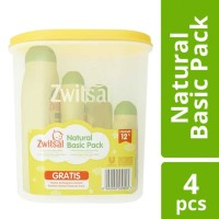 Zwitsal Natural Basic Pack travel toples isi 4 bath powder cologne hai