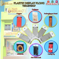 16 X 25 cm Plastik DISPLAY / STICKER TEBAL (100 lbr) (lem) (PLONG PL)