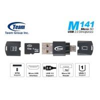 FREE ONGKIR TEAM MICROSD SD CARD READER M141 OTG - GARANSI RESMI