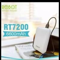 powerbank robot RT7200 6.600mah original garansi resmi 1thn