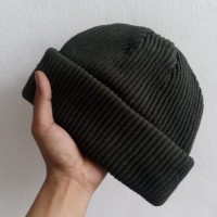 short beanie hat skate hijau army/beanie hat hijau army/kupluk beanie