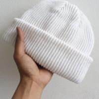short beanie hat putih polos/beanie hat polos warna putih/kuplukbeanie