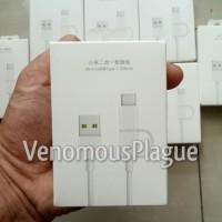 Kabel Data Cable XIAOMI 2 in 1 Micro USB + Type C ORIGINAL 100%