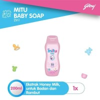 Mitu Baby Soap 2in1 Sabun Bayi Botol 200 ml
