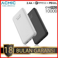 ACMIC C10PRO(GEN3)10000mAh Powerbank 3.0 Quick Charge + PD(White)