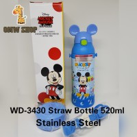 OMWshop Botol Minum Anak Original Disney Mickey WD-3430 Minnie WD-3432 - Biru