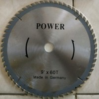 Mata Pisau Circular Saw Gergaji Potong Kayu 9 inch 60T Power Germany