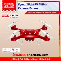 SYMA X5UW Drone with WiFi Camera HD 720P- RED