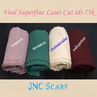 Voal Superfine Square Laser cut Basic Polos Hijab Fashion Muslim