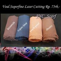 Basic Polos Voal Superfine Laser Cut Hijab Scarf Fashion Muslim Square