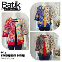 blouse batik blouse cheongsam seling