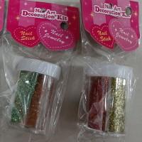 Glitter serbuk bubuk mix 2 warna