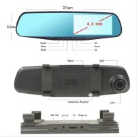 Car Camera DVR Mirror Front and Rear Kamera Mobil Depan dan Belak
