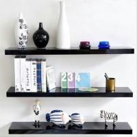 rak dinding 1set floating shelf isi 3 panjang 60 cm