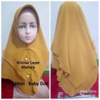 Jilbab Anak Cerruty Khimar 2 Layer Mutiara Bandul
