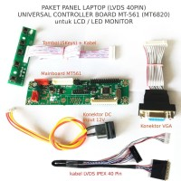 Paket Laptop Universal mainboard LCD LED Monitor MT-561 - LVDS 40 pin
