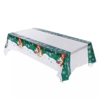 dekorasi natal taplak meja pvc Chrismas table cover