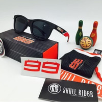 Kacamata Skull Rider Jorge Lorenzo Anti UV Sunglass Black
