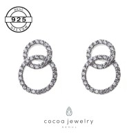 Korea Cocoa Jewelry Love in Paradise - Anting Real Silver
