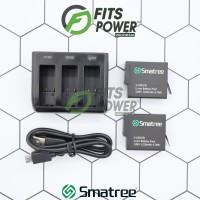 SMATREE 2 Battery GoPro 8 + Triple Charger (HERO 6 / HERO 7 / HERO 8)