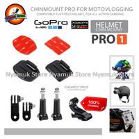 Helmet Chin Mount PRO1 Helm Bike Motovlog for GoPro Xiaomi Yi BRICA