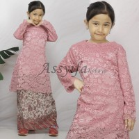 Stelan kebaya Brukat Tunik kurung Lian kombi rok span batik anak