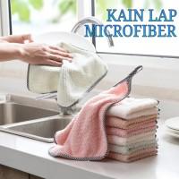 Serbet Kain Lap Meja Dapur Microfiber Kain Lap Tangan Bisa Digantung