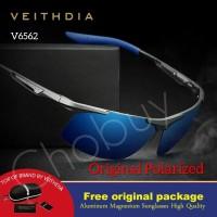 VEITHDIA kacamata polarized cowok Pria original anti UV polaroid 6562 - Hitam