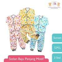 LIBBY Stelan Baju - Celana Panjang Motif Sunset Uk SML (3 stel/pack)